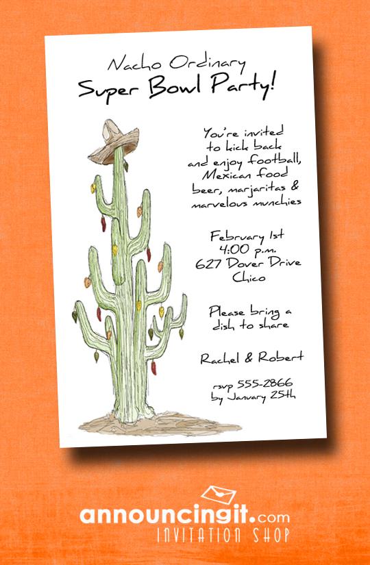 Cactus Southwest Super Bowl Party Invitations