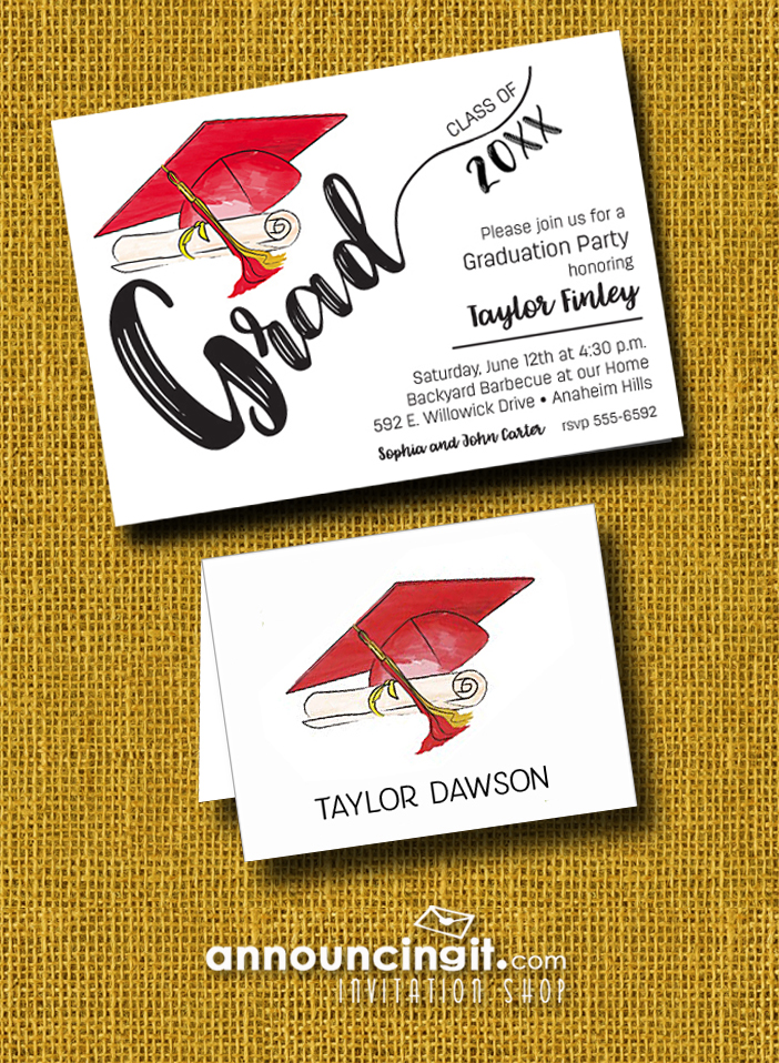 Graduation Party Invitations and Thank You Notes