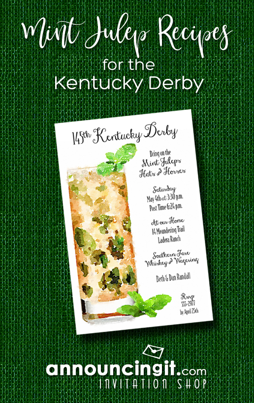 Mint Julep Recipes for Your Kentucky Derby Party | Announcingit.com