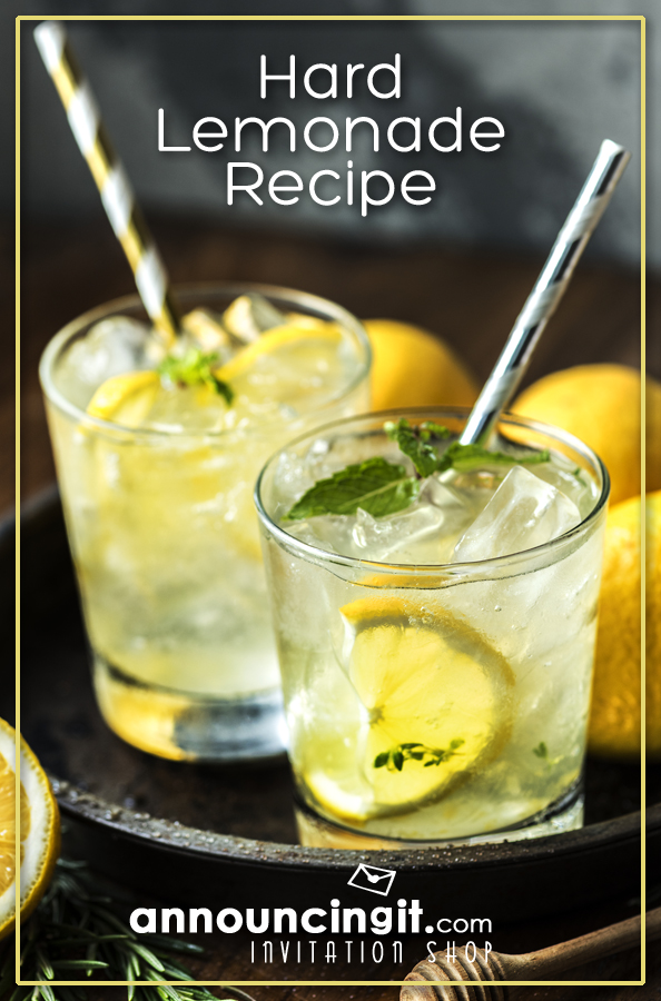 Hard Lemonade Recipe - Perfect for a party or a day by the pool | Announcingit.com