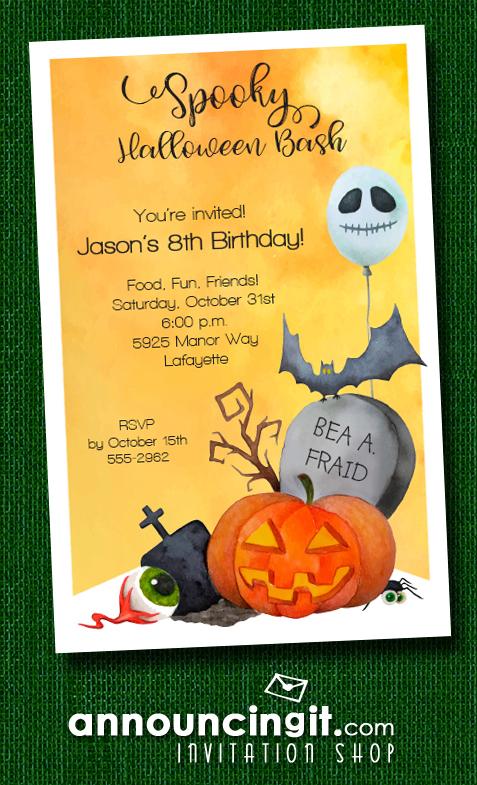 Halloween Corner Costume Party Invitations at Announcingit.com