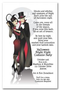 Sinister Couple Vampire Halloween Party Invitations available at Announcingit.com