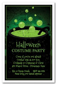 Toxic Green Brew Halloween Party Invitations available at Announcingit.com