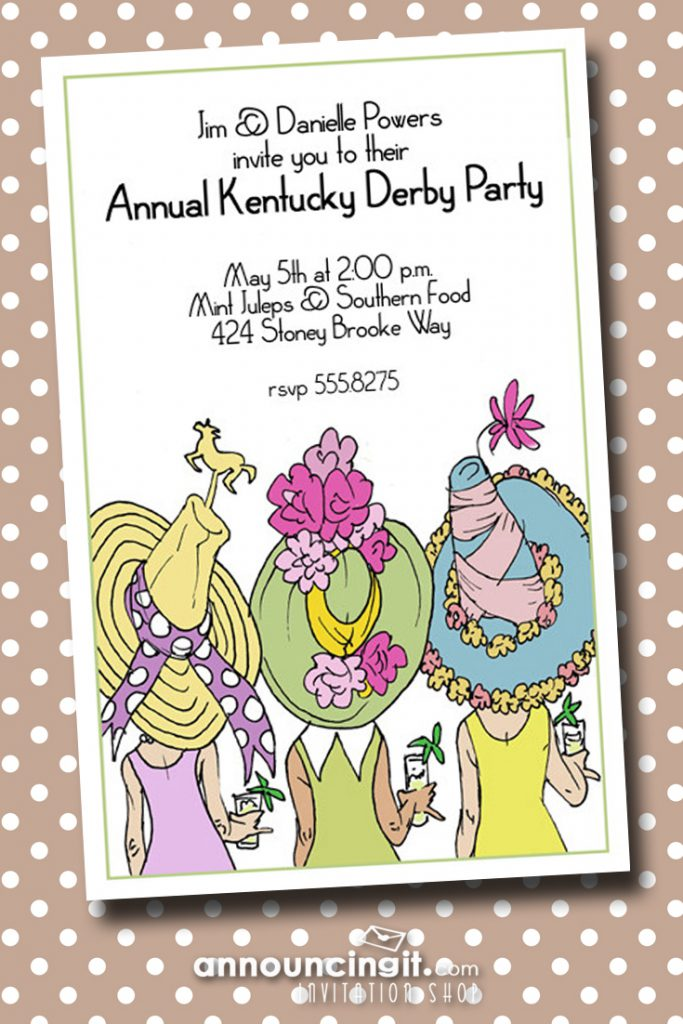 Derby Day Hats Kentucky Derby Party Invitations