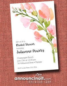 Spring Buds Floral Party Invitations