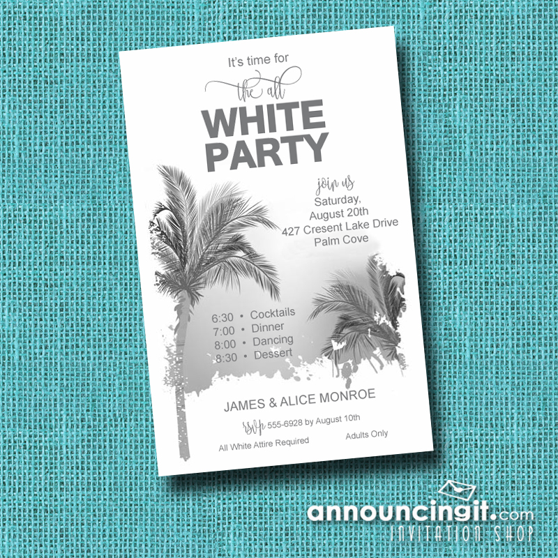White Party Invitations and Inspiration