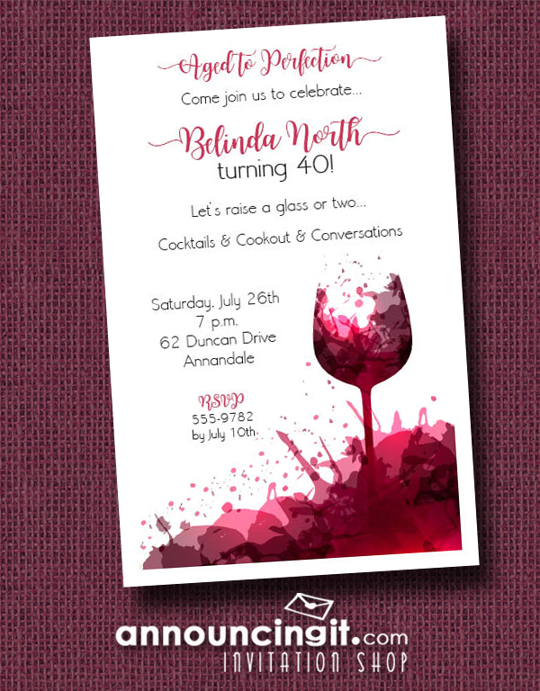 wine splashes party invitations announcingit com