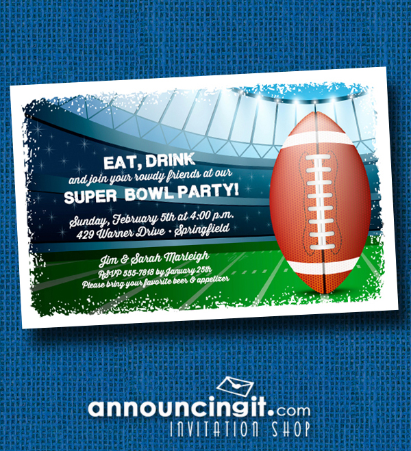 Stadium Super Bowl Party Invitations at Announcingit.com