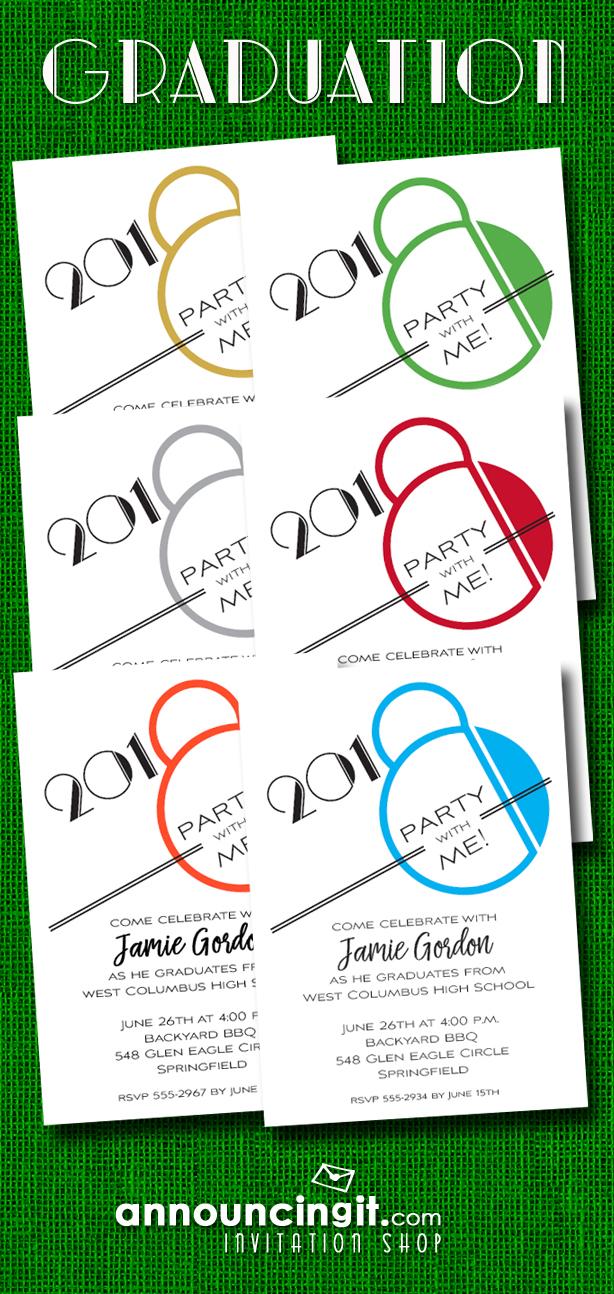 Art Deco Graduation Party Invitations at Announcingit.com