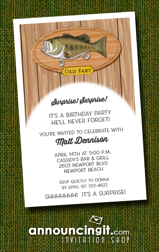 Fish Plaque Party Invitations at Announcingit.com
