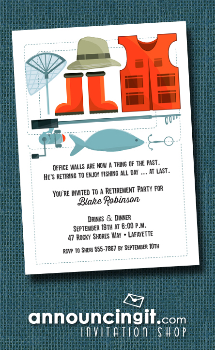 Fisherman's Gear Party Invitations at Announcingit.com