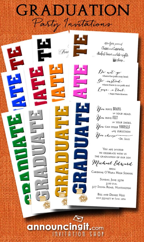 Grad Cap Tassel Charm Graduation Party Invitations at Announcingit.com