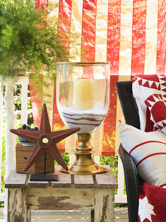 Create this 4th of July Candle Urn