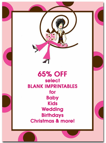 65% off Select Blank Stock Invitation Imprintables