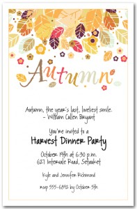 Autumn Season Invitation