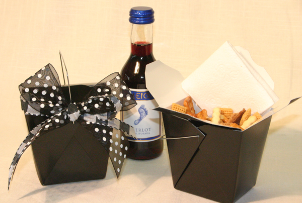 Black Chinese Takeout Boxes Dress up your Party Favors or Treats
