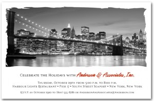 Brooklyn Bridge Skyline Invitations