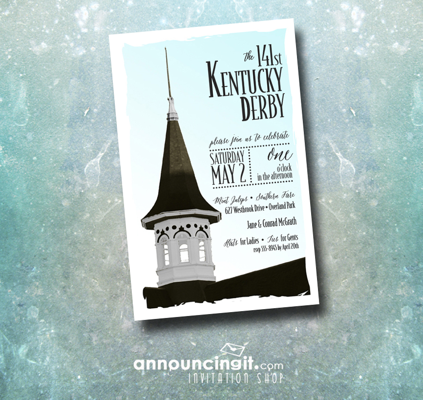 Churchill Downs Steeple Kentucky Derby Party Invitations