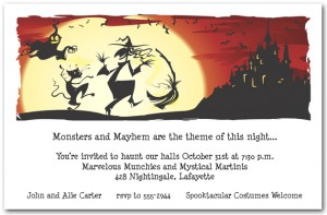 Dance in the Moonlight Halloween Invitations