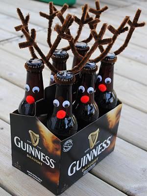 Reindeer Beer Six Pack Decorating