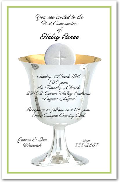 First Communion Invitation Wording with nice invitation sample