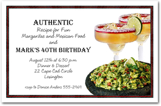 Guacamole and Margaritas Cinco de Mayo Invitations