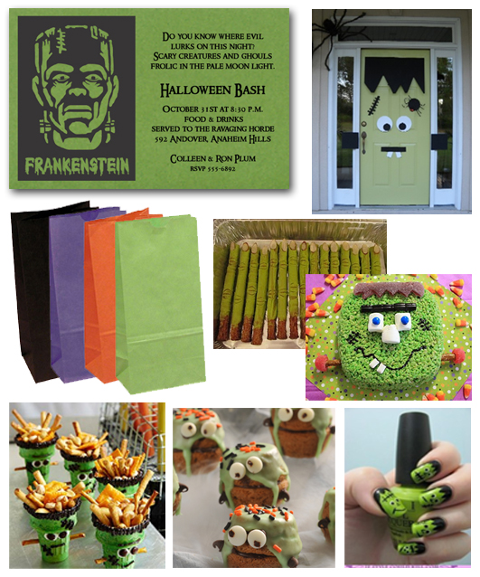 Halloween Frankenstein Party Invitations and Ideas