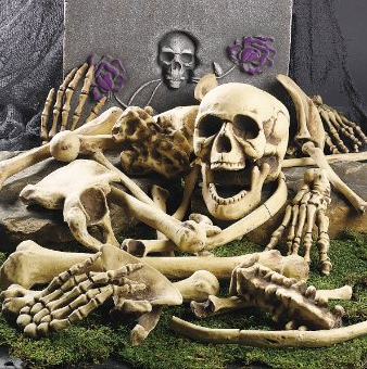 Halloween Skull and Skeleton Bones for Halloween Decorating