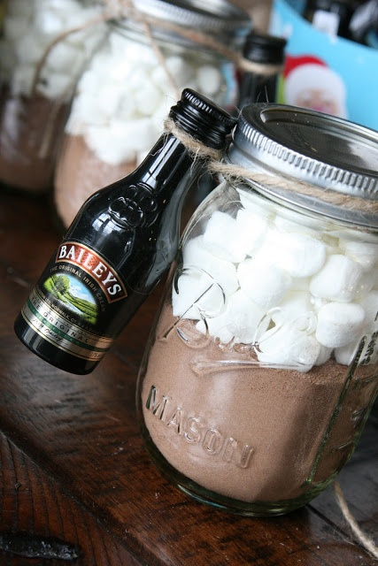 Hot Chocolate and Baileys Holiday Gift