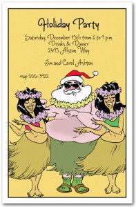 Hula Holidays Tropical Invitation