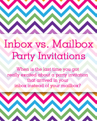 Inbox vs. Mailbox Party Invitations
