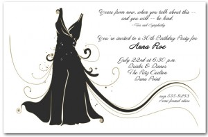 Little Black Dress Party Invitation