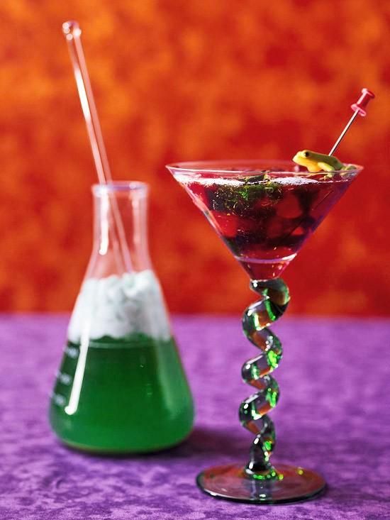 Mad Scientist Halloween Martini