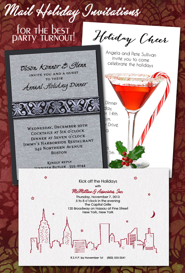Mail Holiday Party Invitations for the Best Turnout