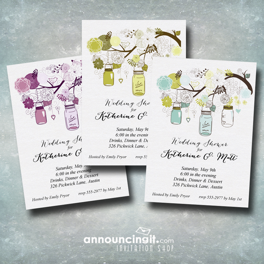 Mason Jar Party Invitations