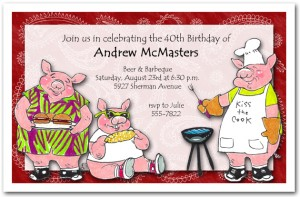 Porky's Barbeque Invitation