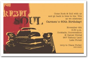 Rebel Soul Classic Birthday Invitations