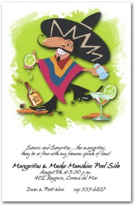 Senor Margarita Invitation