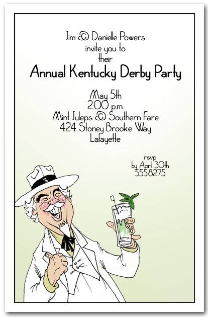 Southern Hospitality Kentucky Derby Party Invitations