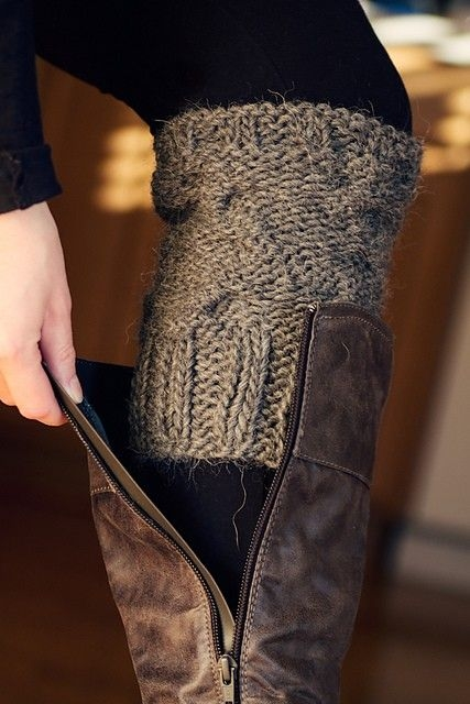 Sweater Sleeve Boot Socks