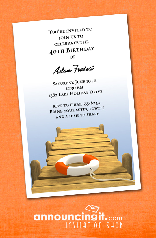 The Dock Party Invitations