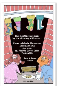 Up the Chimney Christmas Invitations