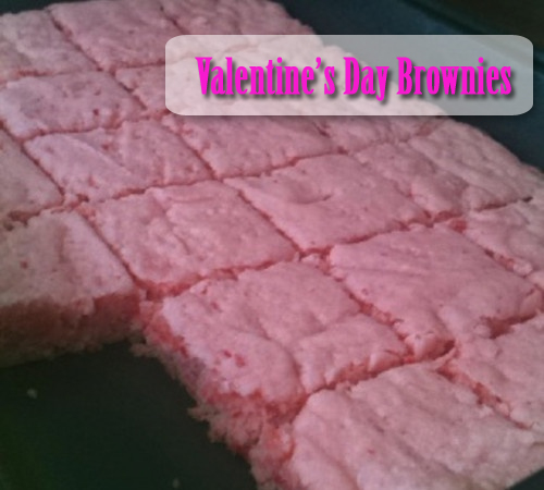 Valentine's Day Pink Brownies