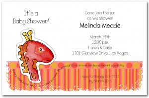 Zoo Babes Giraffe Baby Shower Invitations