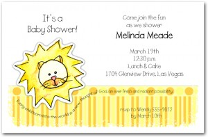 Zoo Babes Lion Baby Shower Invitations