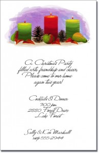 Holiday Candles and Cones Invitations