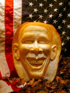 Carved Pumpkin President Barack Obama
