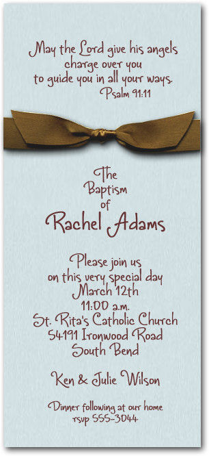 Aqua & Brown Ribbon Baptism
