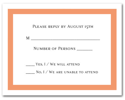 Celosia Orange Border RSVP Card #5