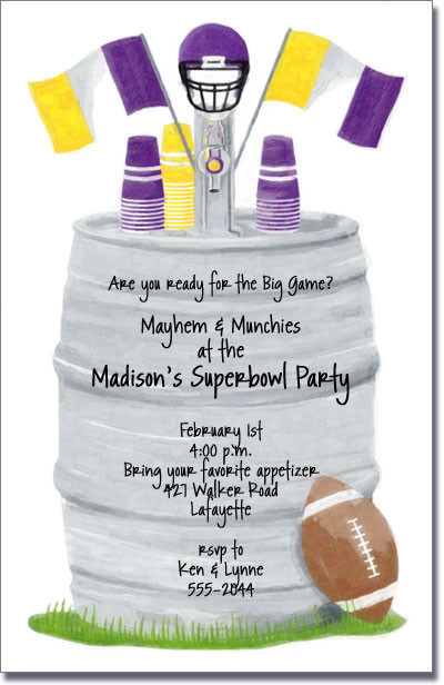 Football Keg - Purple & Gold